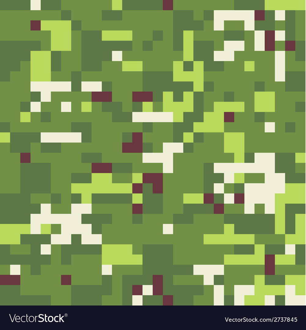 Camouflage military background in pixel style vector | Price: 1 Credit (USD $1)