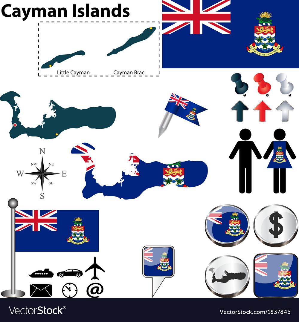 Cayman islands map vector   Price: 1 Credit (USD $1)
