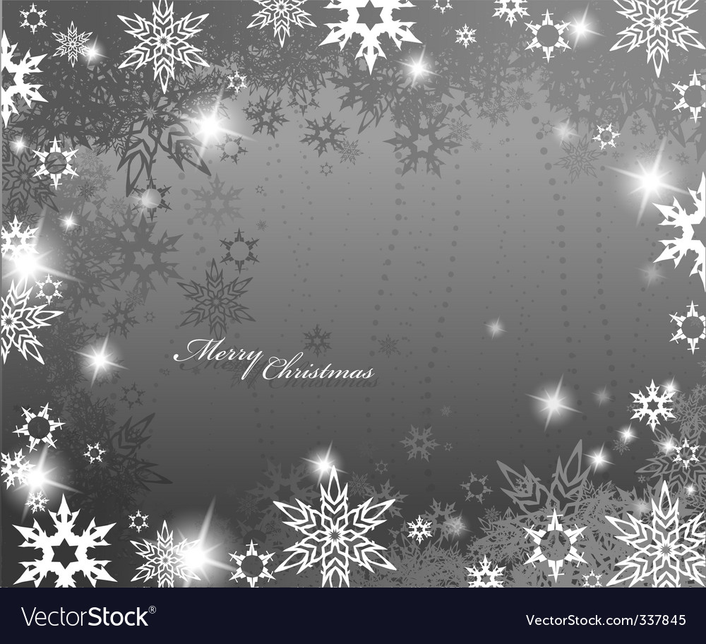 Christmas snowflake border vector | Price: 1 Credit (USD $1)