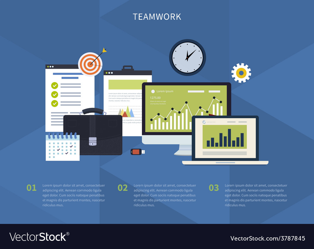 Concept of teamwork vector | Price: 1 Credit (USD $1)