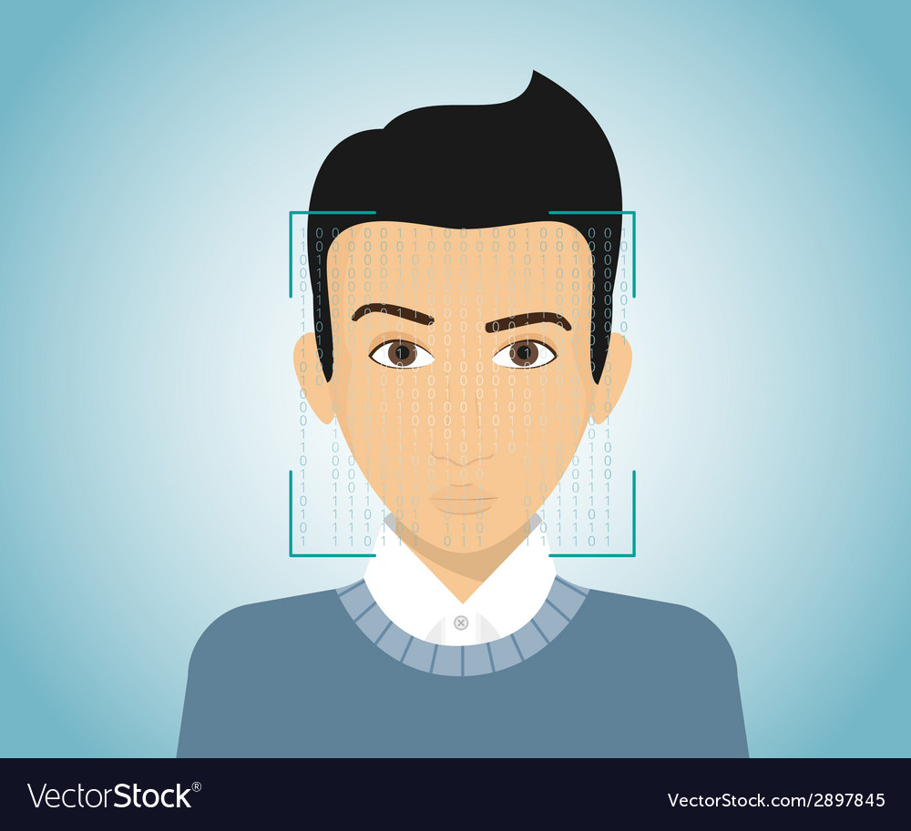 Face identification vector | Price: 1 Credit (USD $1)