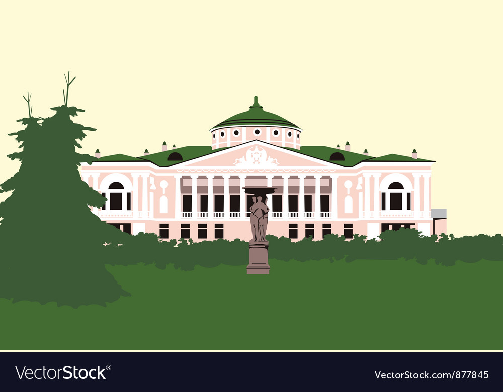 Old house in the middle of the park vector | Price: 3 Credit (USD $3)