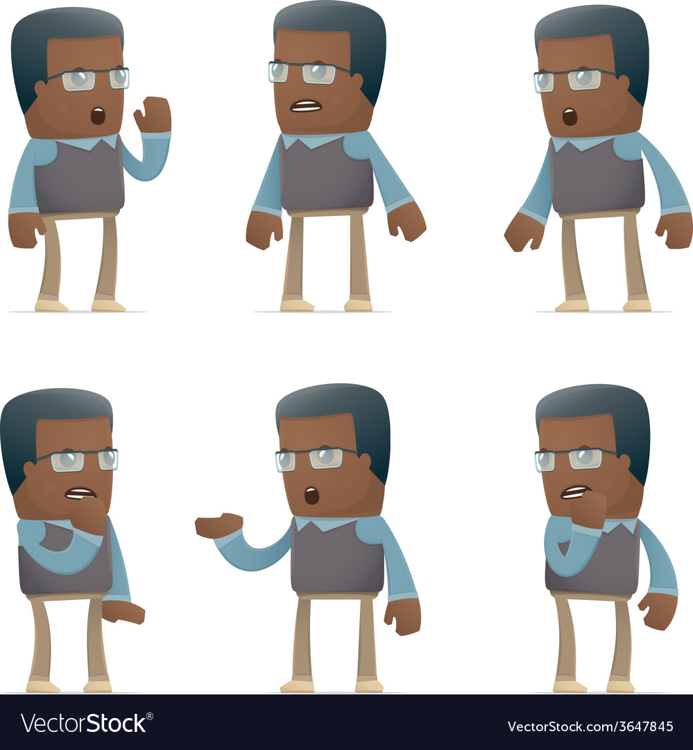 Set of teacher character in different poses vector | Price: 1 Credit (USD $1)