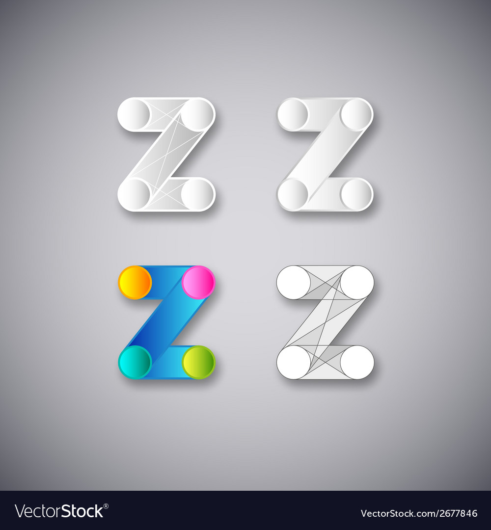 Abstract combination of letter z vector | Price: 1 Credit (USD $1)