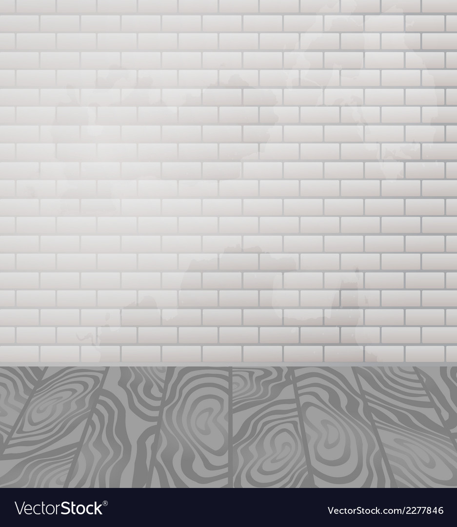 Brick wall and wooden floor interior vector | Price: 1 Credit (USD $1)