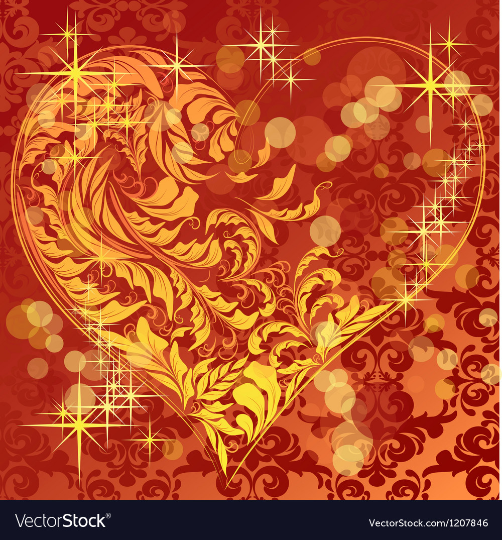 Calligraphic heart vector | Price: 1 Credit (USD $1)