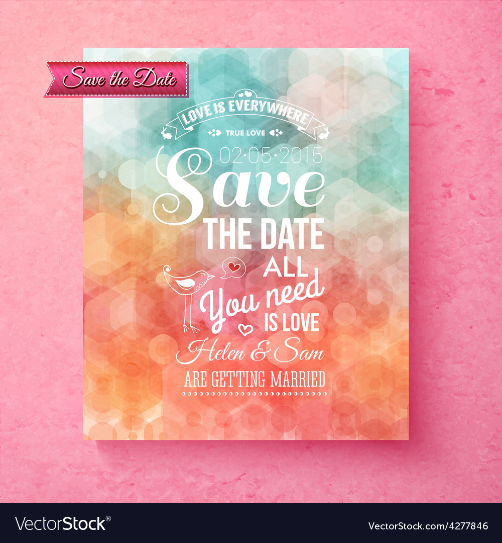 Elegant save the date wedding template vector | Price: 1 Credit (USD $1)