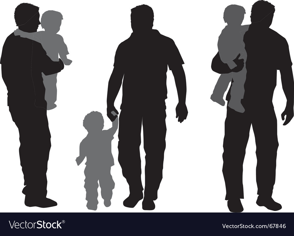 Father and child vector | Price: 1 Credit (USD $1)