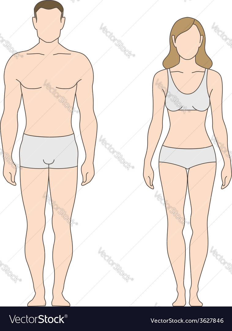 Figure man woman vector | Price: 1 Credit (USD $1)