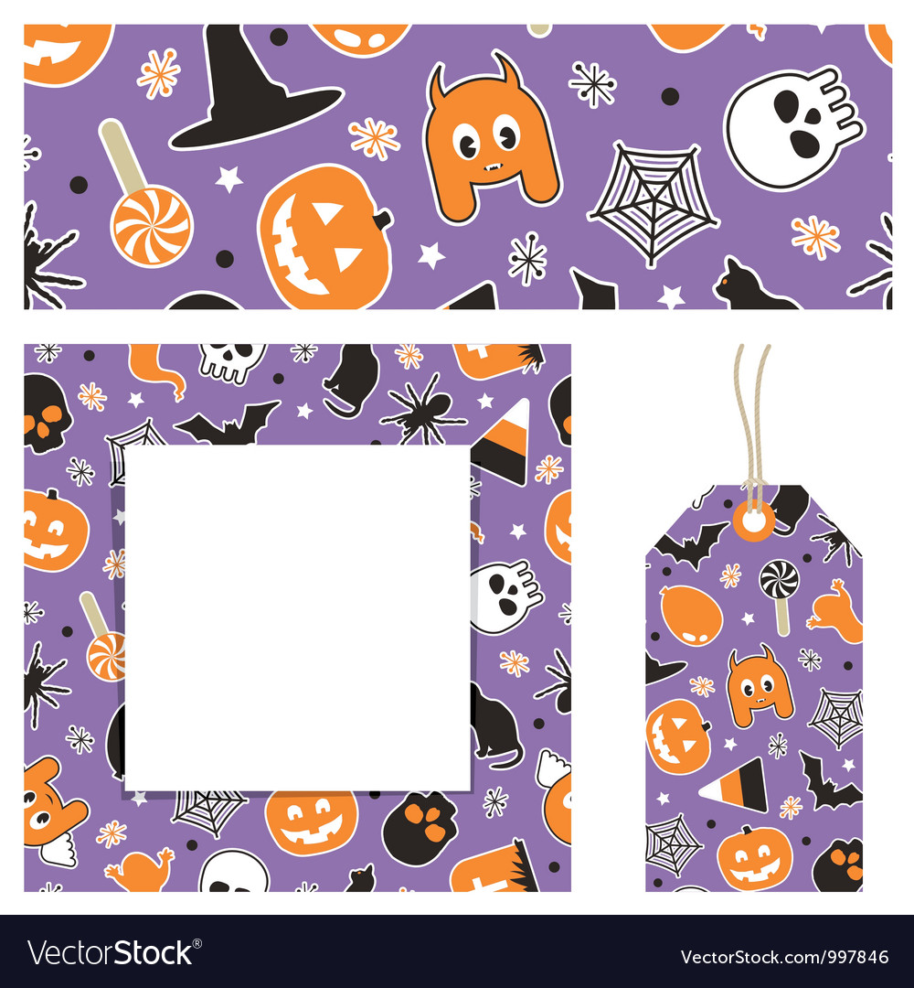 Halloween stationery vector | Price: 1 Credit (USD $1)