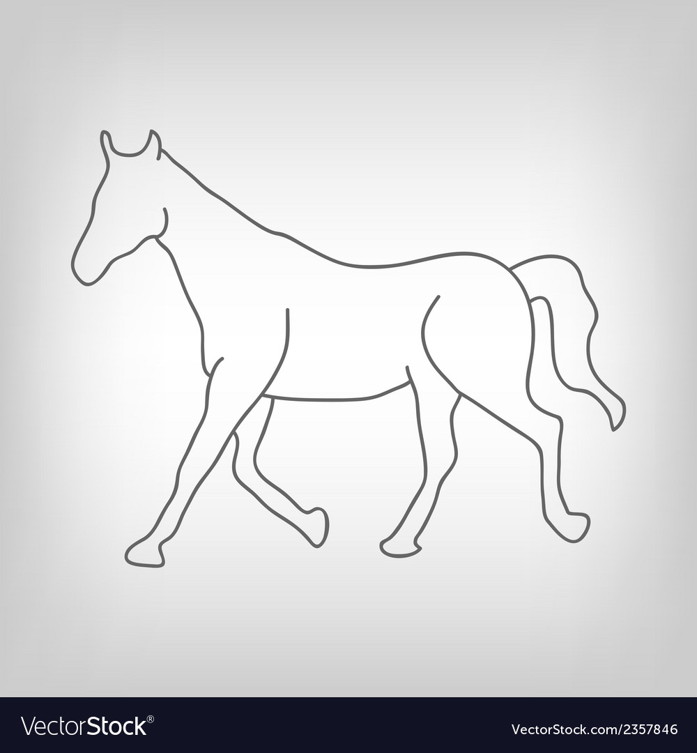 Horse silhouette vector | Price: 1 Credit (USD $1)