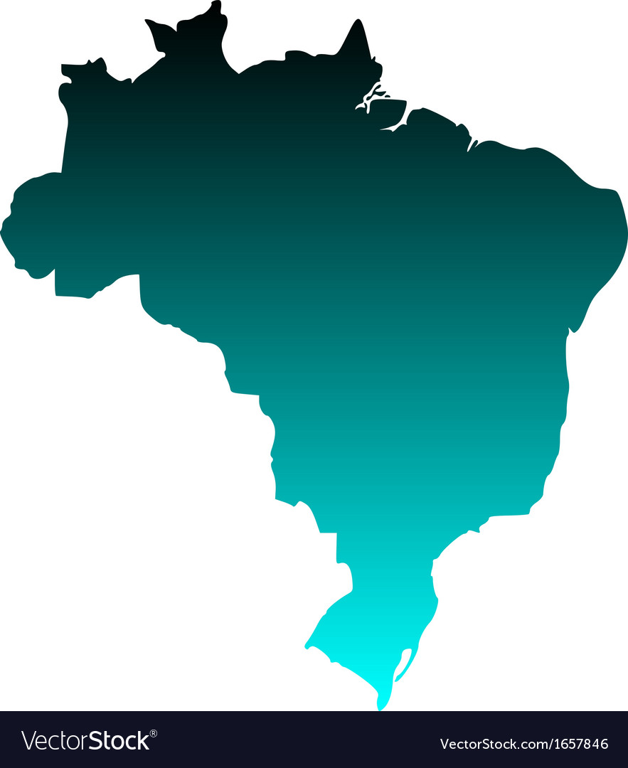 Map of brazil vector | Price: 1 Credit (USD $1)