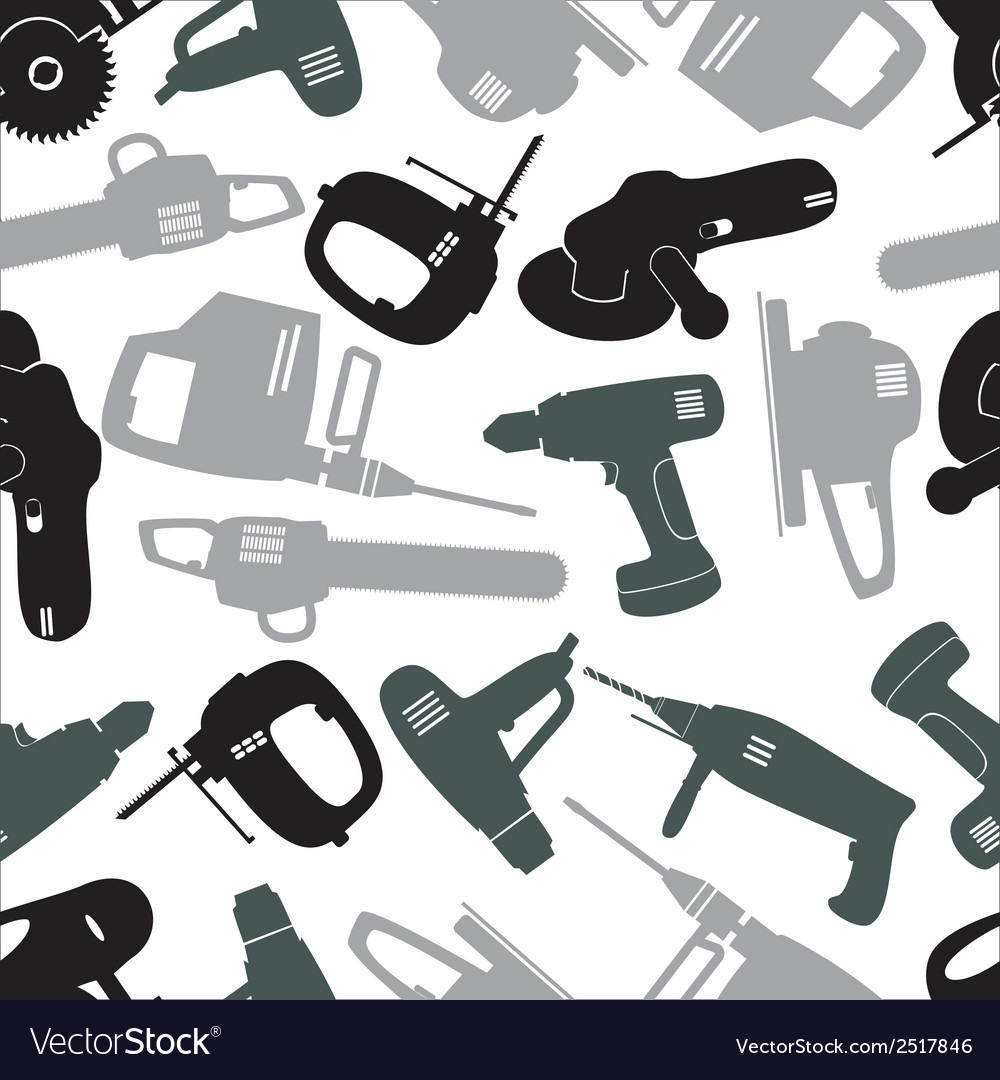 Power tools gray pattern eps10 vector | Price: 1 Credit (USD $1)