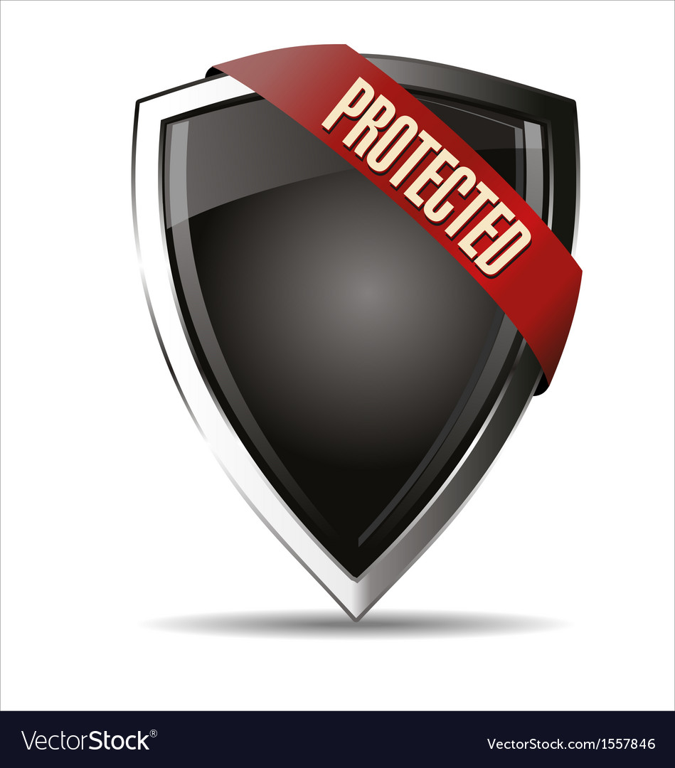 Protected shield vector | Price: 1 Credit (USD $1)