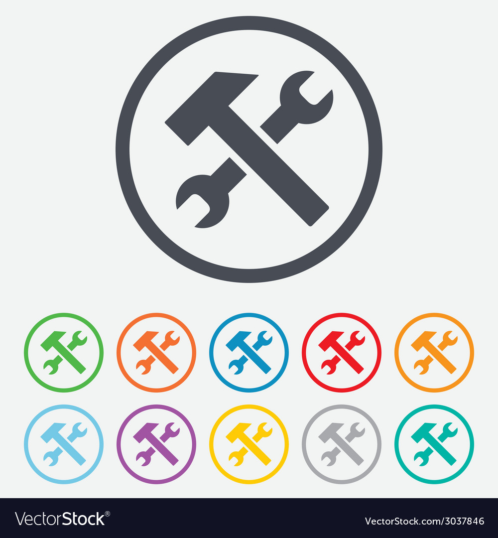 Repair tool sign icon service symbol vector | Price: 1 Credit (USD $1)