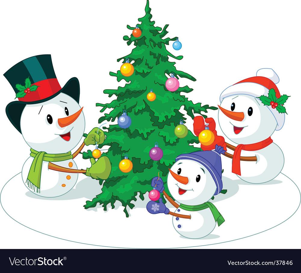 Snowmen family vector | Price: 3 Credit (USD $3)