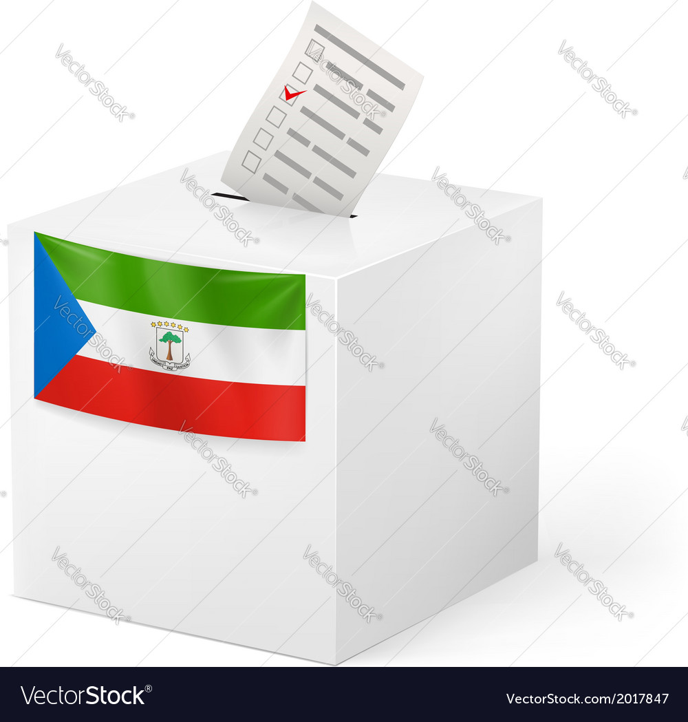 Ballot box with voting paper equatorial guinea vector | Price: 1 Credit (USD $1)