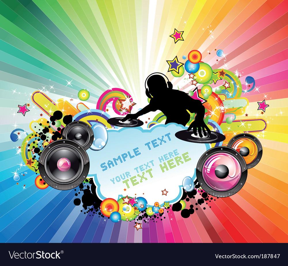 Disco music flyer vector   Price: 3 Credit (USD $3)