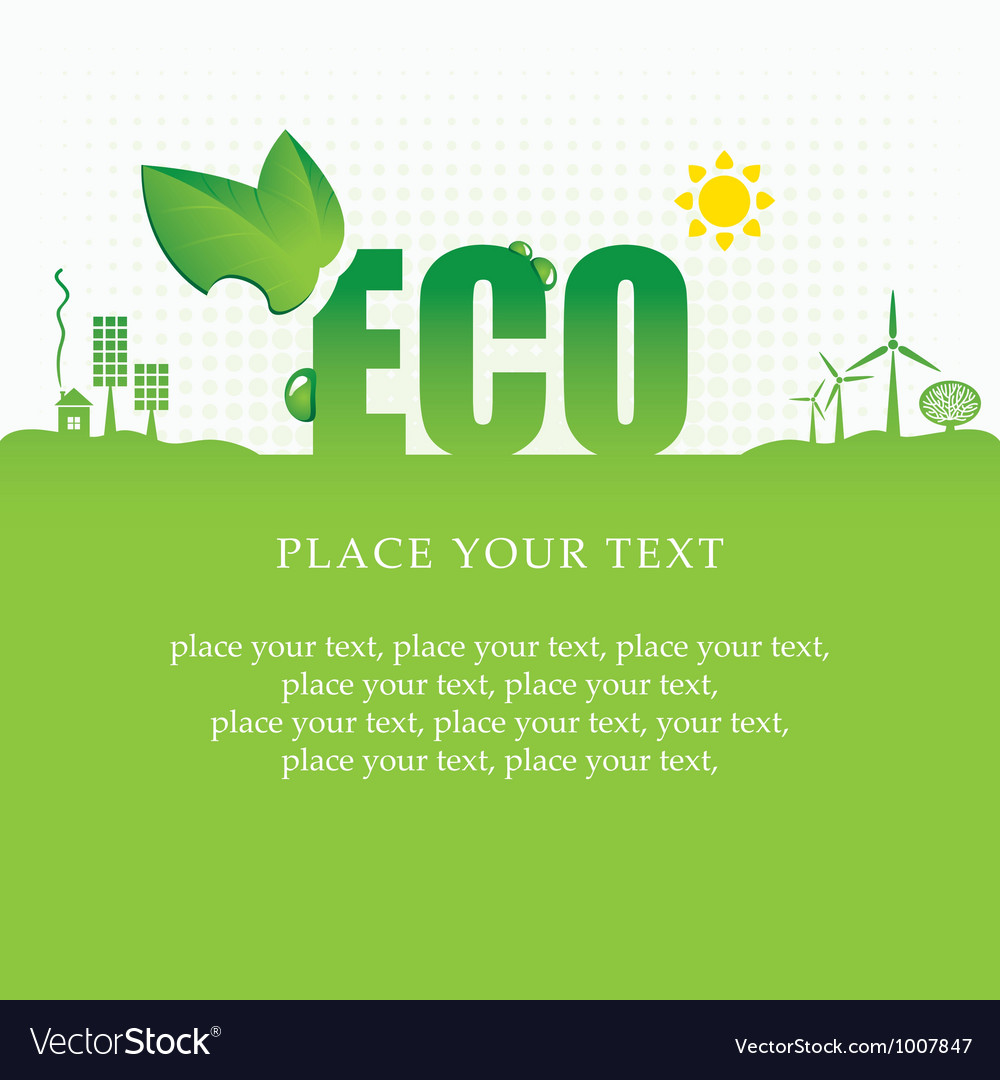 Eco banner vector | Price: 1 Credit (USD $1)
