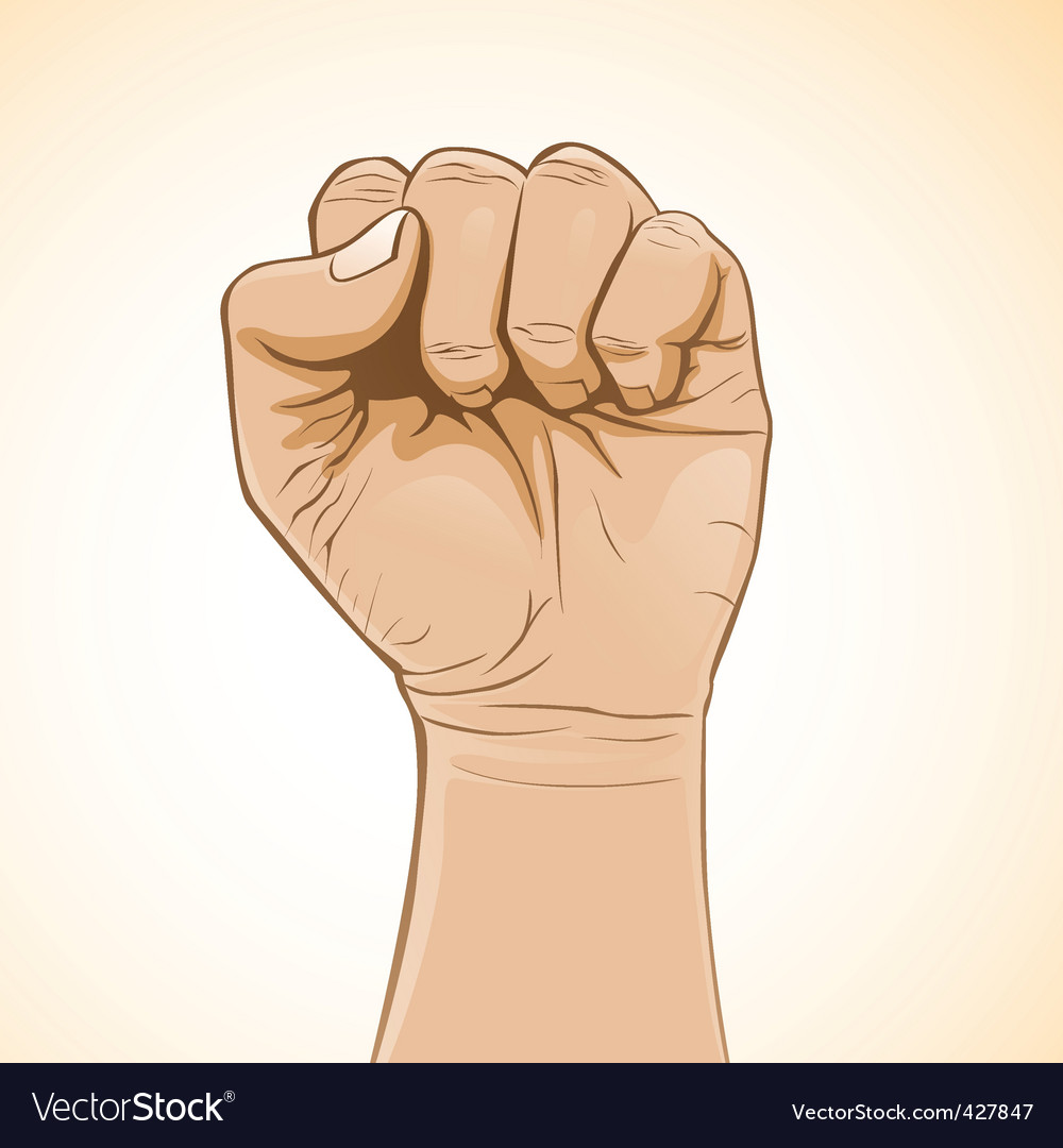 Fist color vector | Price: 3 Credit (USD $3)