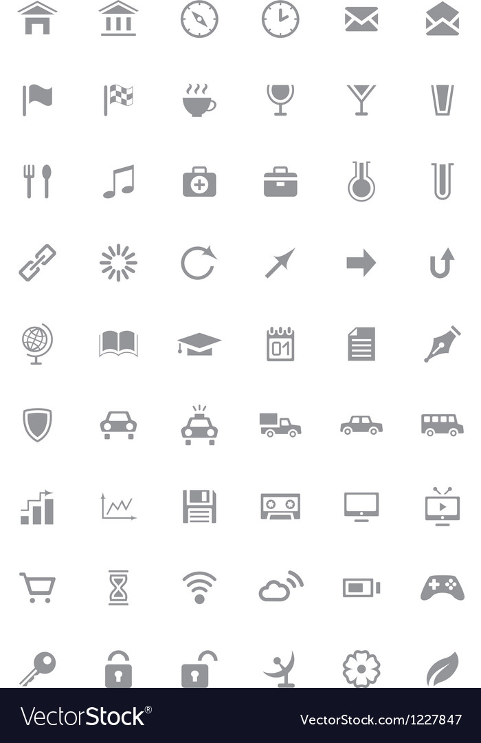 Icons and pictograms set vector | Price: 1 Credit (USD $1)
