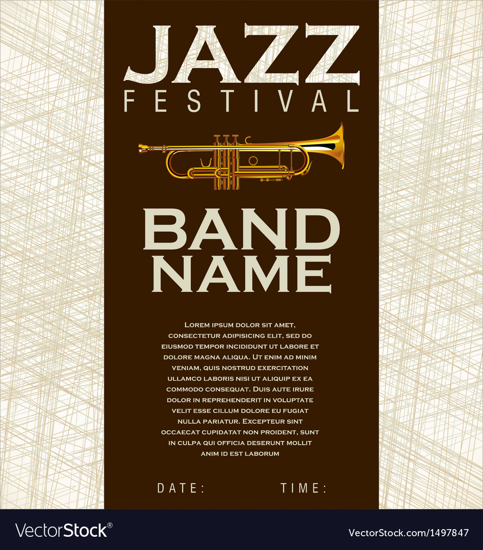 Jazz festival background vector | Price: 1 Credit (USD $1)
