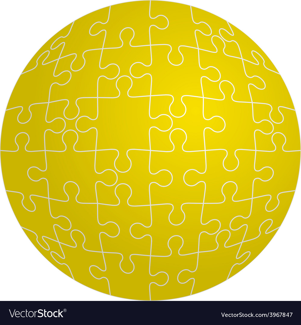Jigsaw puzzle in the shape of a sphere vector   Price: 1 Credit (USD $1)
