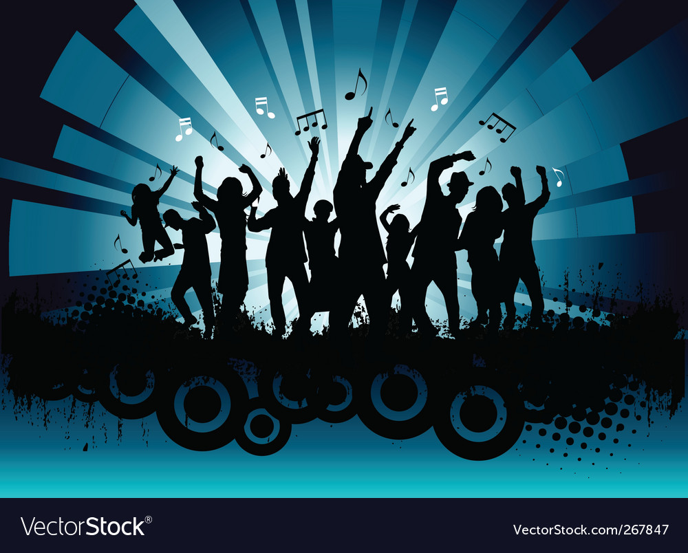 Music party vector | Price: 1 Credit (USD $1)