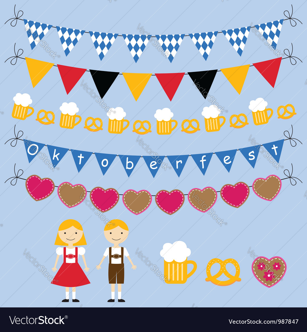 Oktoberfest set vector | Price: 1 Credit (USD $1)