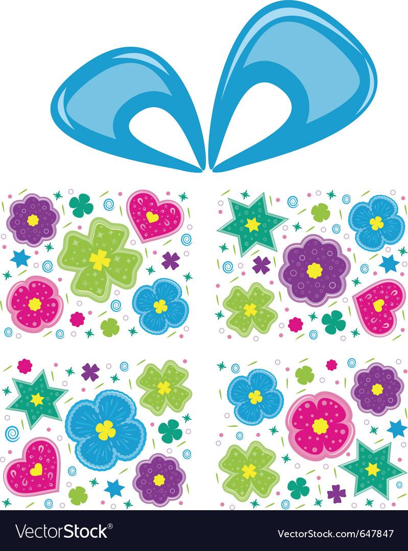 Present flowers vector | Price: 1 Credit (USD $1)