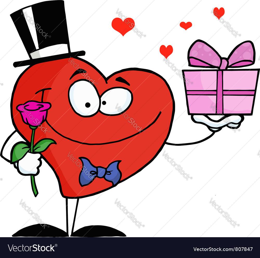 Romantic gentleman heart vector | Price: 1 Credit (USD $1)
