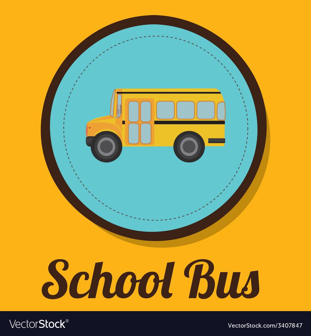School bus design vector | Price: 1 Credit (USD $1)