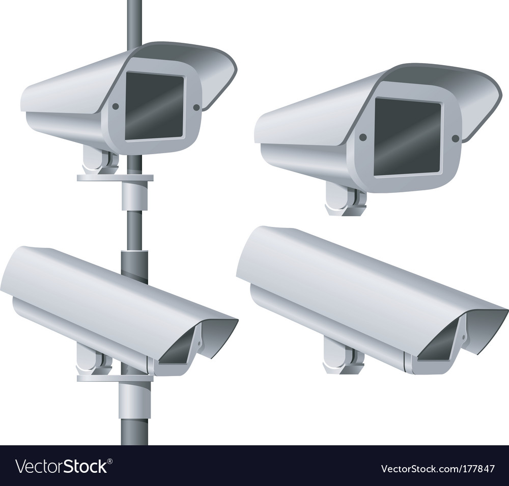 Security camera vector | Price: 1 Credit (USD $1)