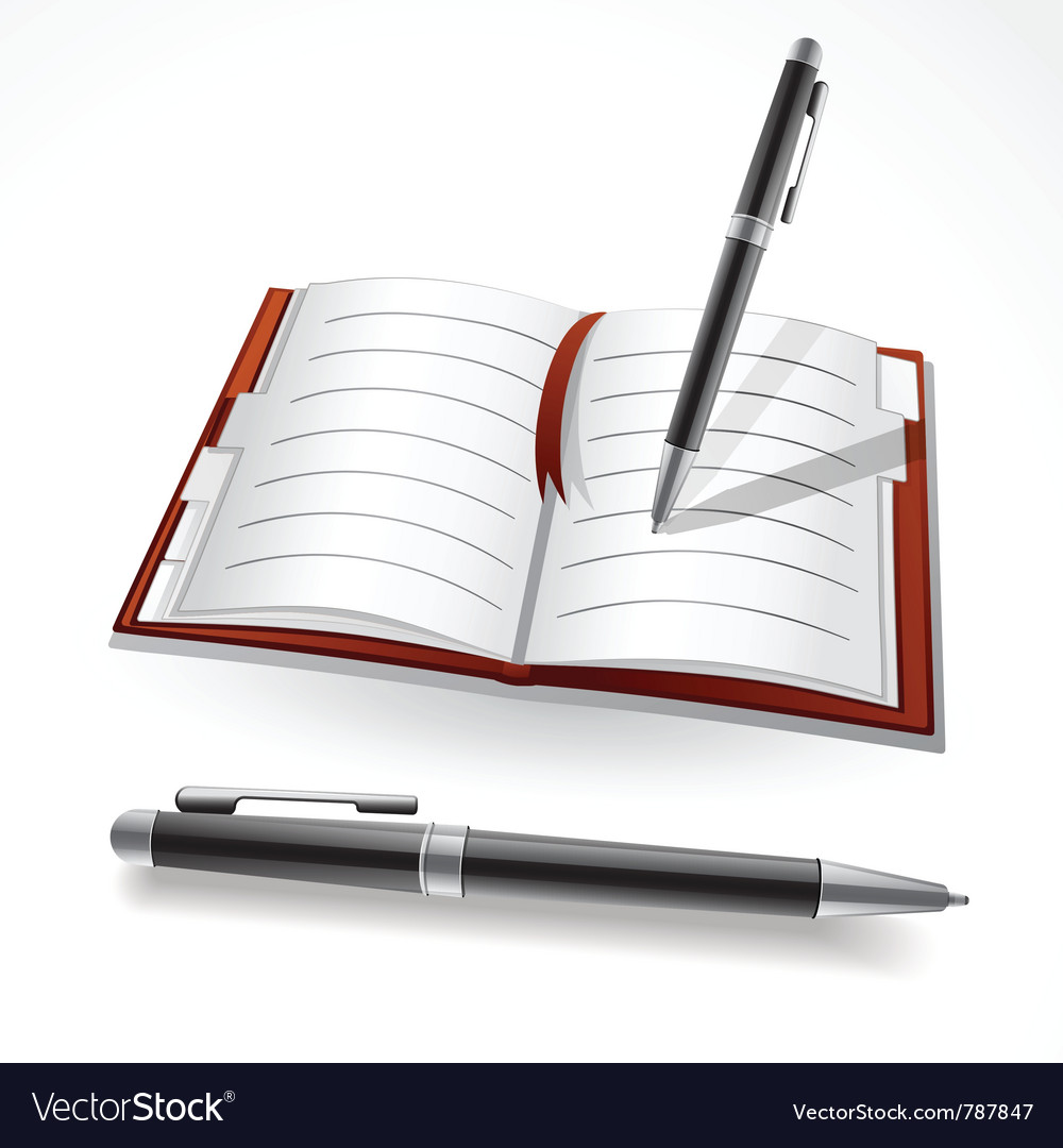 Writing in a journal vector | Price: 3 Credit (USD $3)