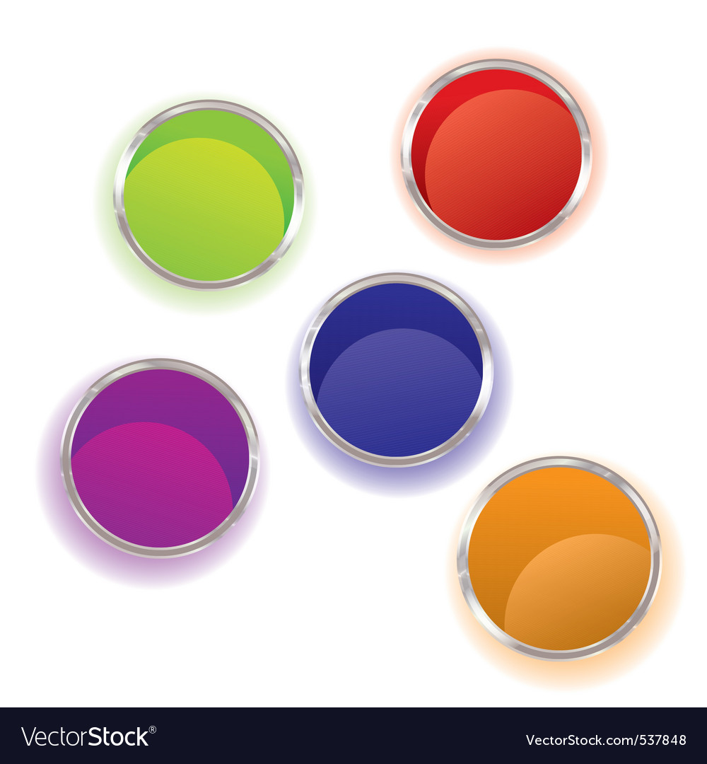 Abstract brightly coloured paint pots collection w vector | Price: 1 Credit (USD $1)