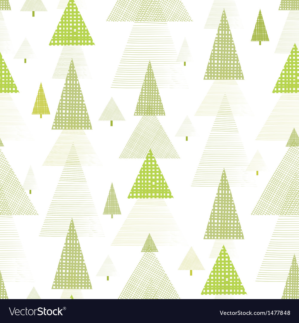 Abstract pine tree forest seamless pattern vector | Price: 1 Credit (USD $1)