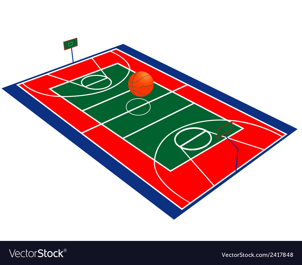 Basketball field vector | Price: 1 Credit (USD $1)