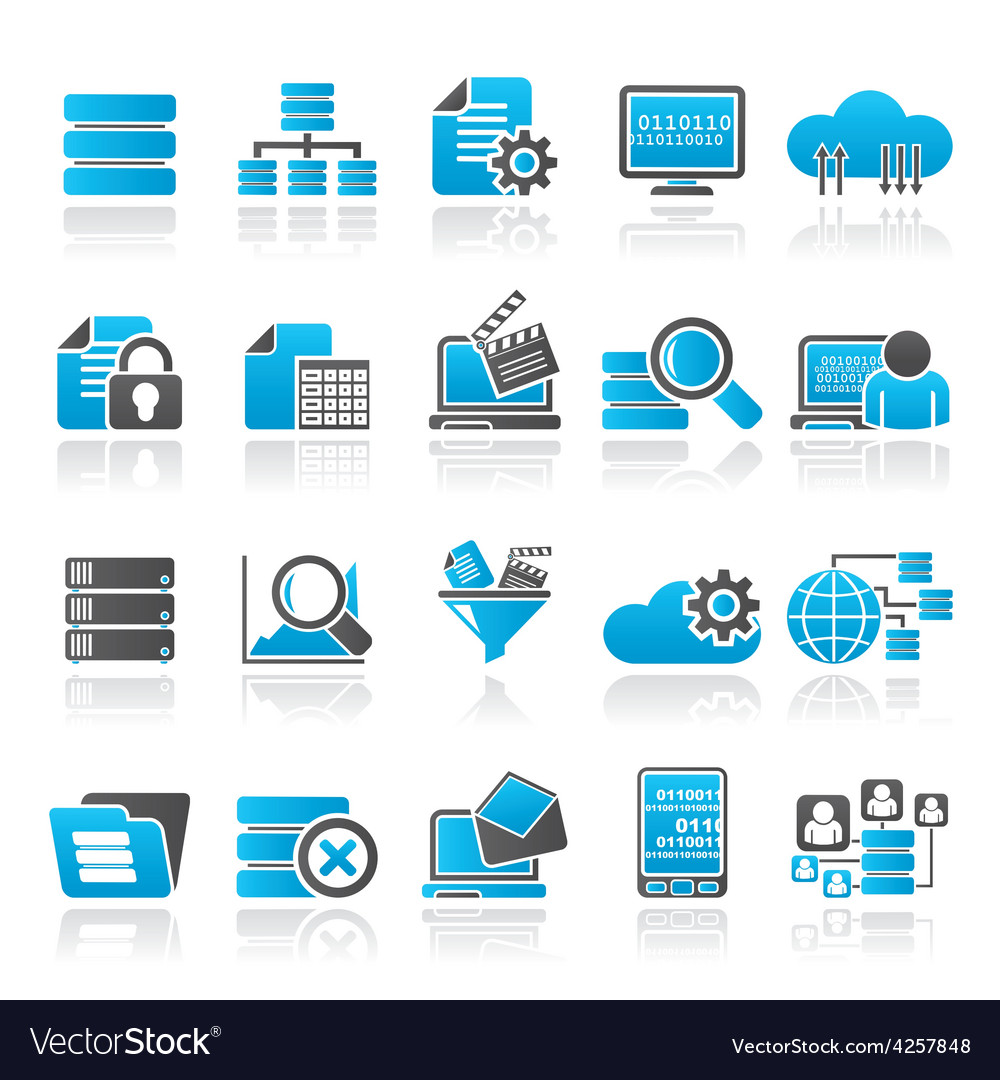 Data and analytics icons vector | Price: 1 Credit (USD $1)