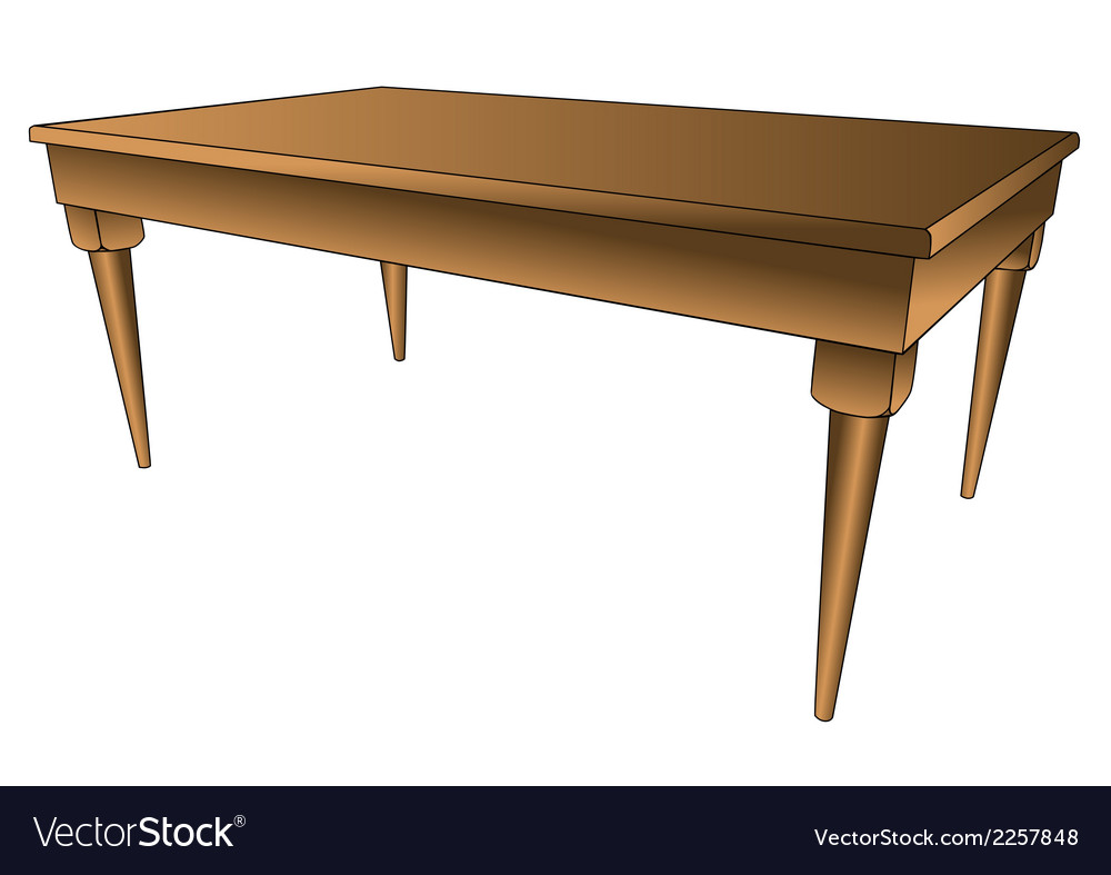 Kitchen table vector | Price: 1 Credit (USD $1)
