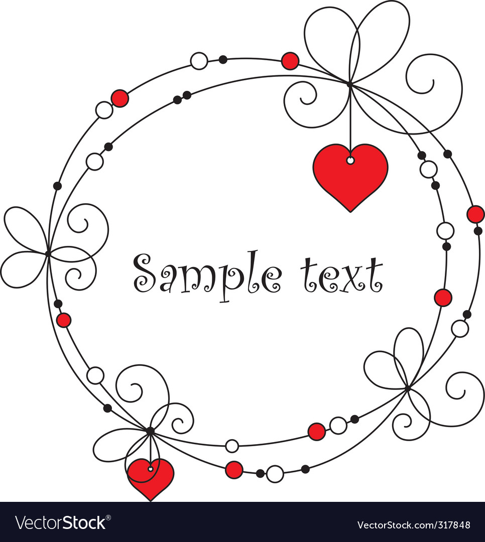 Lovely frame for your design vector | Price: 1 Credit (USD $1)