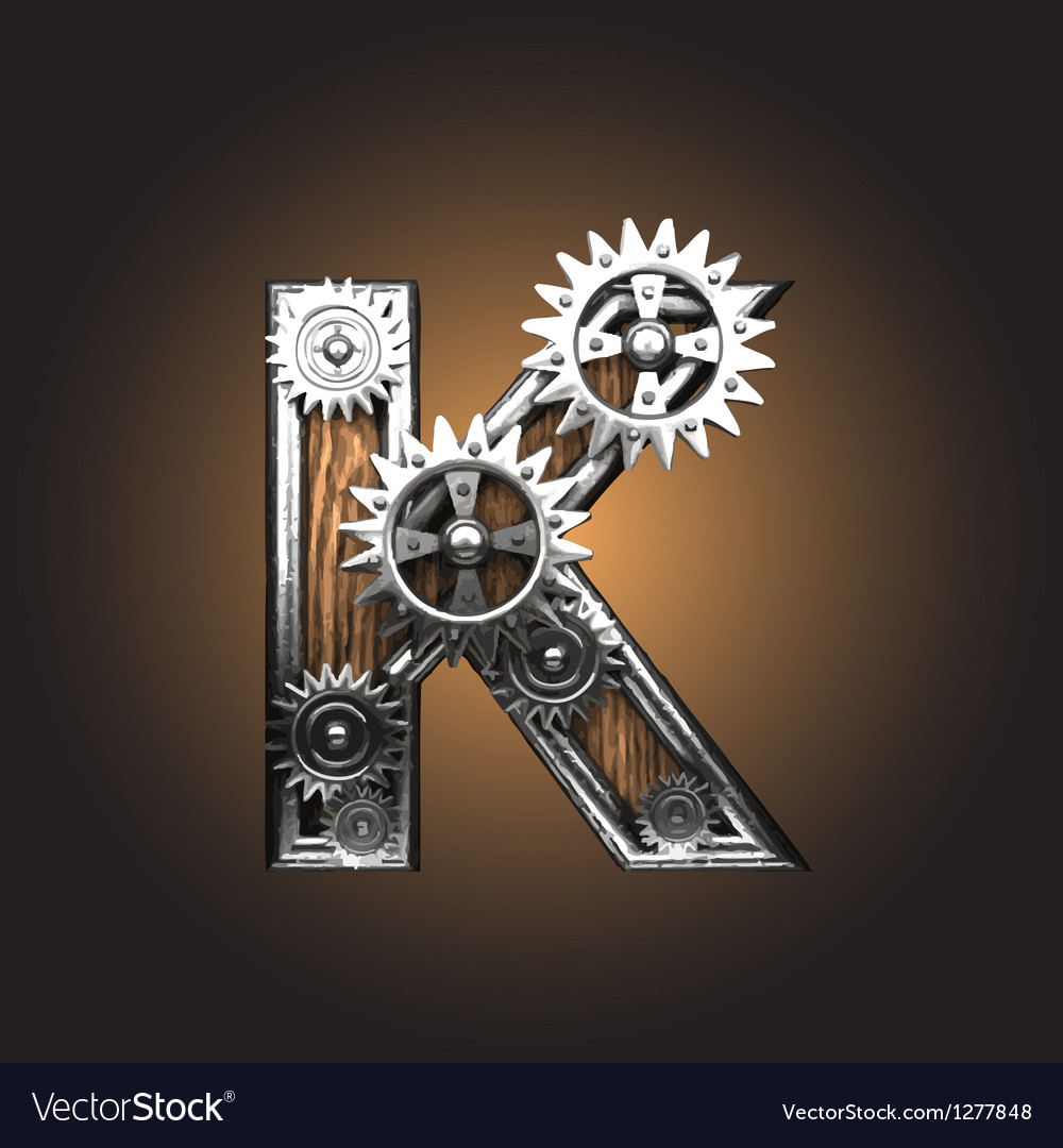 Metal figure with gearwheels vector | Price: 1 Credit (USD $1)