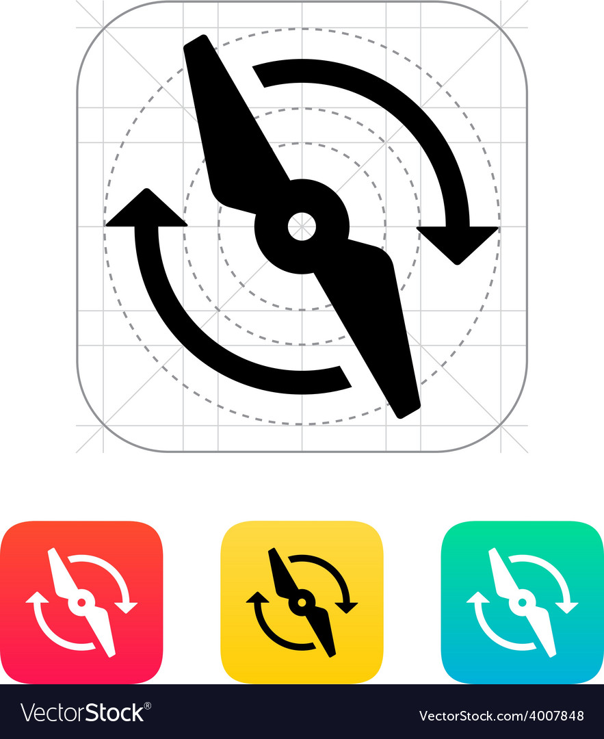 Rotor rotating icon vector | Price: 1 Credit (USD $1)