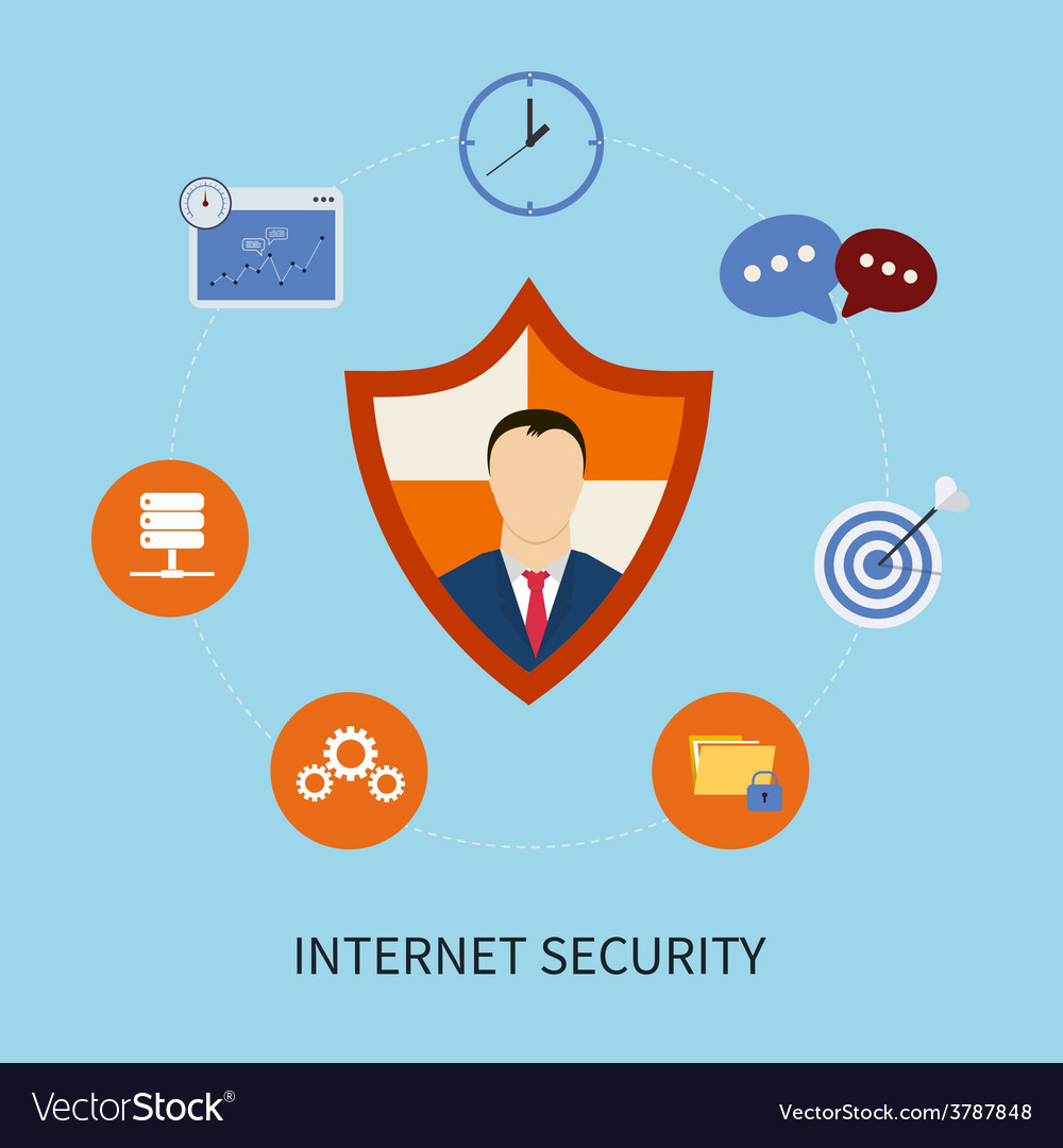Secure online shopping vector | Price: 1 Credit (USD $1)