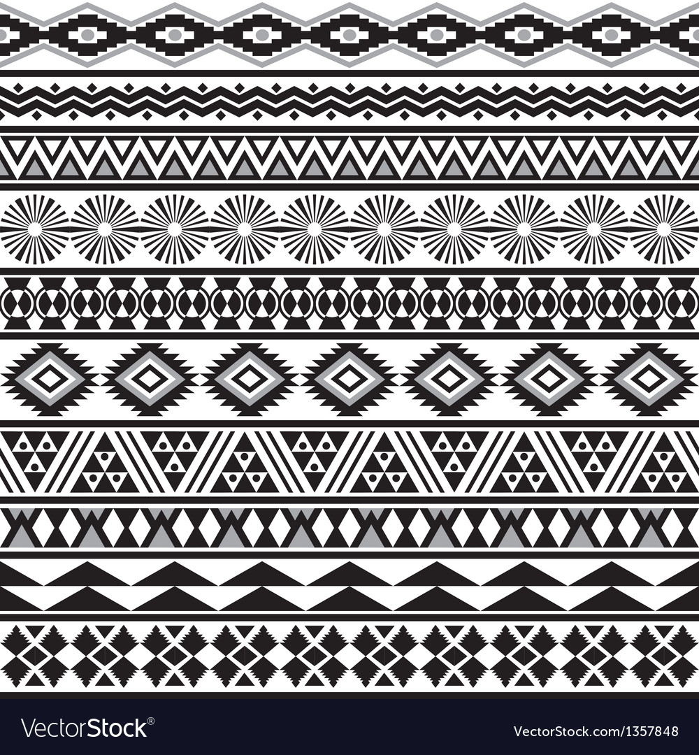 Tribal striped seamless pattern vector