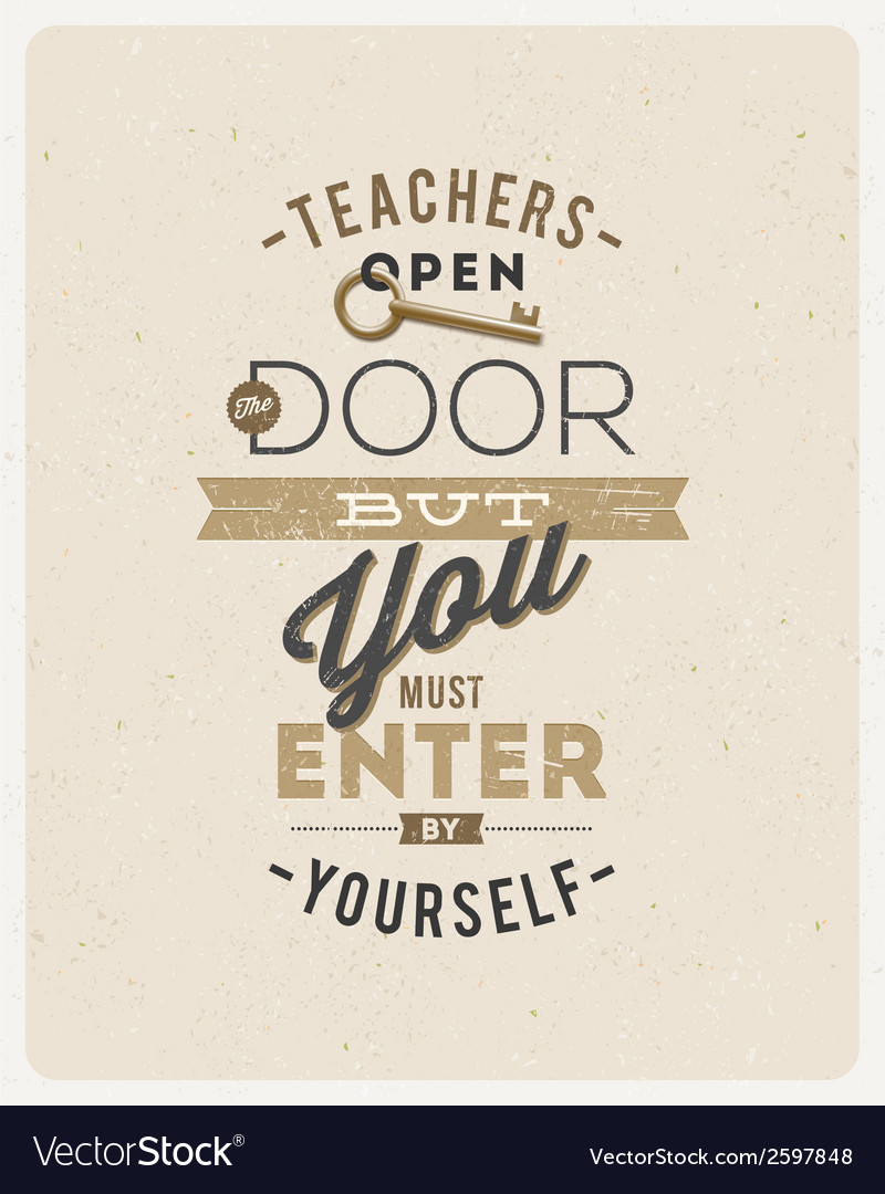 Type design quote about a teacher vector | Price: 1 Credit (USD $1)