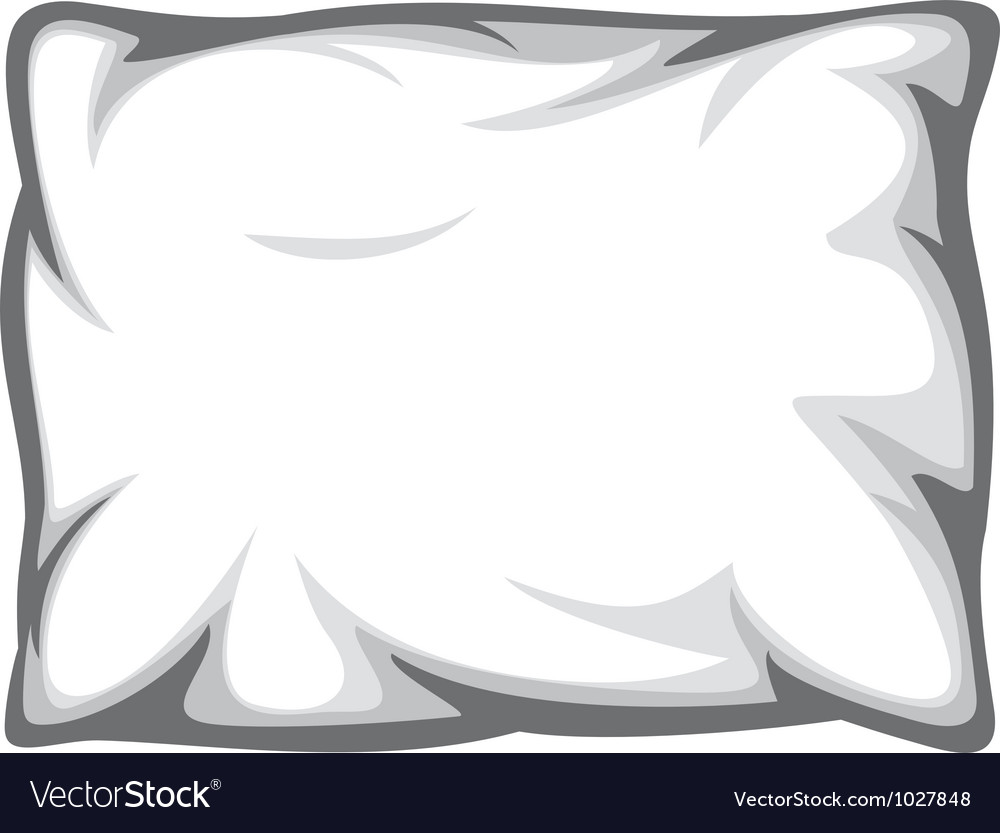 White pillow vector | Price: 1 Credit (USD $1)