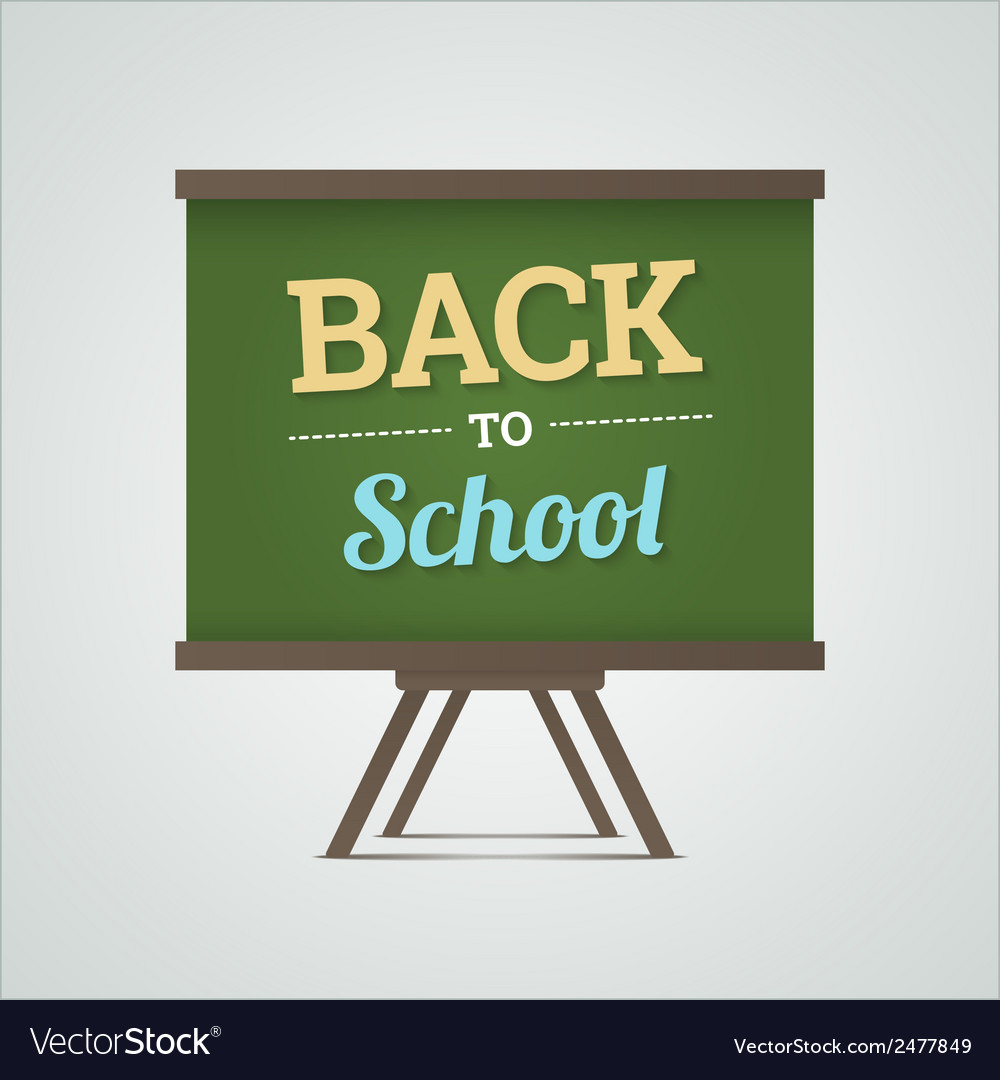 Back to school on green board vector | Price: 1 Credit (USD $1)