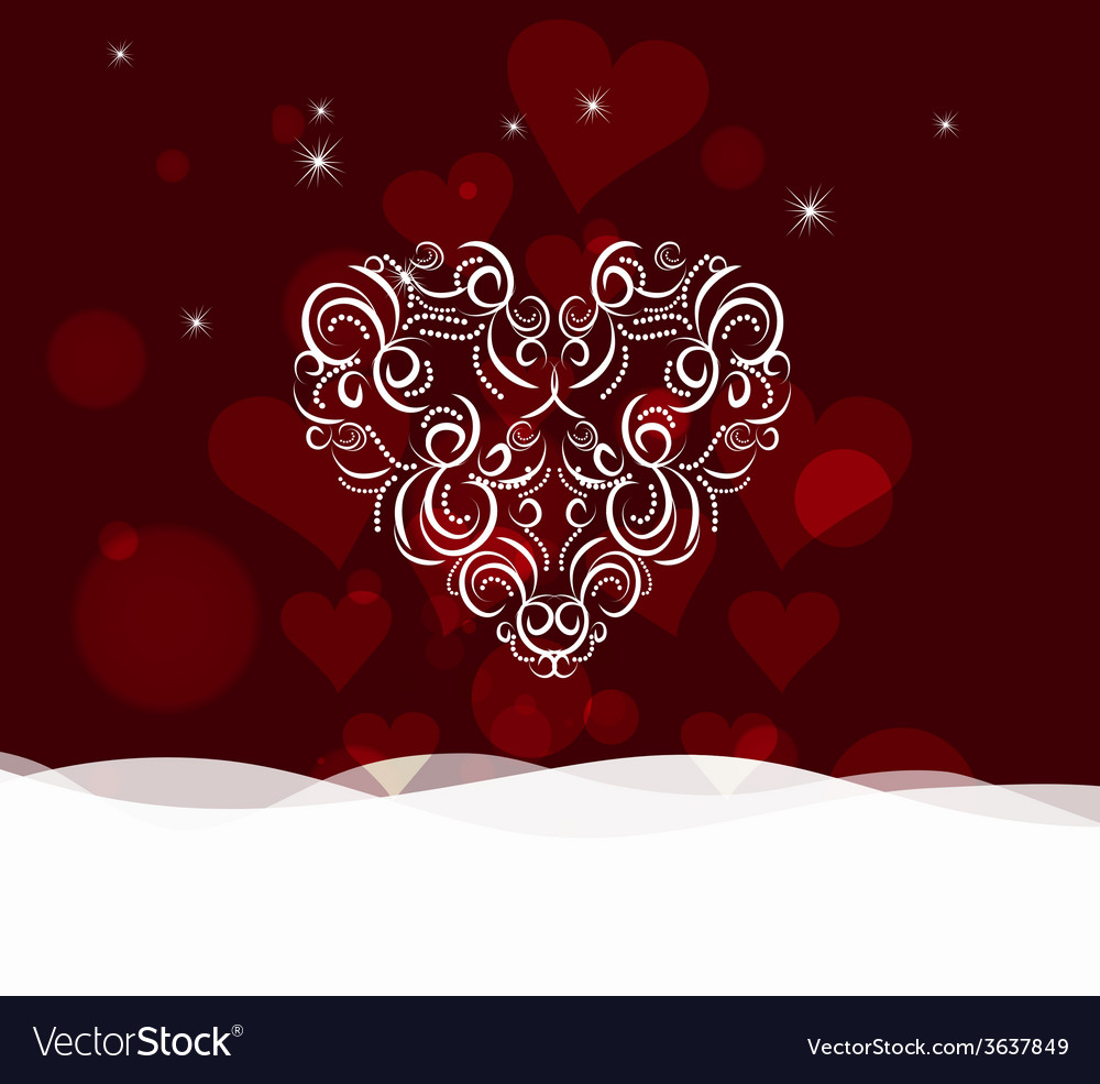 Background with ornament heart by valentines day vector | Price: 1 Credit (USD $1)
