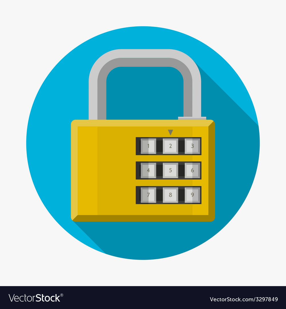 Flat icon for padlock vector | Price: 1 Credit (USD $1)