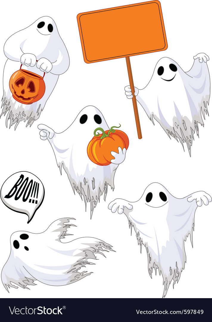 Ghosts vector | Price: 3 Credit (USD $3)